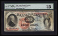 Large Size:Legal Tender Notes, Fr. 127 $20 1869 Legal Tender PMG Very Fine 25.. ...