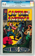 Silver Age (1956-1969):Superhero, Captain America #101 (Marvel, 1968) CGC NM 9.4 Off-white to white pages....