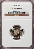 Proof Barber Dimes, 1898 10C PR65 Cameo NGC....