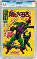 Silver Age (1956-1969):Superhero, The Avengers #52 (Marvel, 1968) CGC NM 9.4 Off-white to white pages....