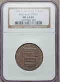 Colonials, 1794 TOKEN Franklin Press Token MS64 Brown NGC. Breen-1165, W-8850,R.1....