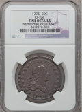 Early Half Dollars, 1795 50C 2 Leaves -- Improperly Cleaned -- NGC Details. Fine.O-104, R.4....