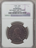 Early Half Dollars, 1795 50C 2 Leaves -- Repaired, Artificially Toned -- NGC Details.VF. O-119, R.4....