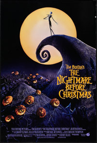 """The Nightmare Before Christmas (Touchstone, 1993). One Sheet (27"""" X 40""""). DS. Animation"""