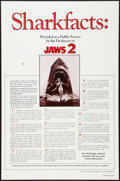 "Movie Posters:Horror, Jaws 2 (Universal, 1978). One Sheet (27"" X 41"") Shark Facts Style.Horror.. ..."