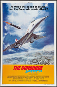 """The Concorde: Airport '79 (Universal, 1979). One Sheet (27"""" X 41"""") Style B. Flat Folded. Action"""
