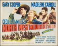 "Movie Posters:Adventure, North West Mounted Police (Paramount, 1940). Half Sheet (22"" X 28"")Style A. Adventure.. ..."
