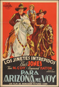 "Movie Posters:Western, Arizona Bound (Monogram, 1941). Argentinean Poster (29.25"" X 43""). Western.. ..."