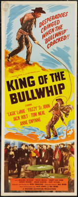 "King of the Bullwhip (Western Adventures Pictures, 1950). Insert (14"" X 36""). Western"