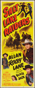 "Movie Posters:Western, Salt Lake Raiders (Republic, 1950). Insert (14"" X 36""). Western.. ..."