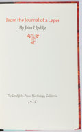 Books:Fiction, John Updike. SIGNED/LIMITED. From the Journal of a Leper.Lord John, 1978. First edition, first printing. Limi...