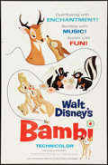 "Movie Posters:Animation, Bambi (Buena Vista, R-1966). One Sheet (27"" X 41"") Style A.Animation.. ..."