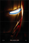 """Movie Posters:Science Fiction, Iron Man (Paramount, 2008). One Sheet (27"""" X 40"""") Advance. Science Fiction.. ..."""