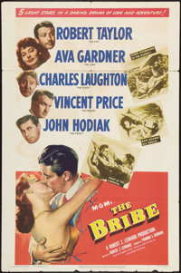 "The Bribe (MGM, 1949). One Sheet (27"" X 41""). Film Noir"
