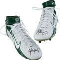 Football Collectibles:Others, Brett Favre Signed Nike Cleats....