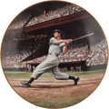 Baseball Collectibles:Others, Joe DiMaggio Signed Plate. ...