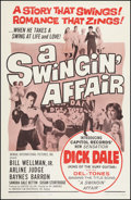 "Movie Posters:Rock and Roll, A Swingin' Affair (Emerson, 1963). One Sheet (27"" X 41""). Rock andRoll.. ..."