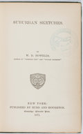 Books:Literature Pre-1900, W. D. Howells. Suburban Sketches. Hurd and Houghton, 1871.First edition, first printing. Ex-library with typical ma...