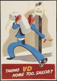 "World War II Propaganda (U.S. Navy Bureau of Medicine and Surgery, 1945). Poster (18.5"" X 26""). ""Taking V..."