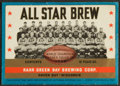 Football Collectibles:Others, 1936 World Champion Green Bay Packers Rahr Brewing Corp. Beer Label....