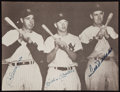 Baseball Collectibles:Photos, Joe DiMaggio, Mickey Mantle and Ted Williams Multi SignedPhotograph....