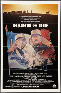 """March or Die & Other Lot (Columbia, 1977). One Sheets (2) (27"""" X 41""""). Advance and Regular. War. ... (..."""