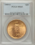 Saint-Gaudens Double Eagles: , 1909-S $20 MS65 PCGS. PCGS Population (289/8). NGC Census:(220/10). Mintage: 2,774,925. Numismedia Wsl. Price for problem ...