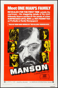 "Manson & Other Lot (American International, 1973). One Sheets (2) (27"" X 41""). Documentary. ... (Total..."