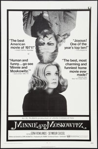 """Minnie and Moskowitz (Universal, 1971). One Sheet (27"""" X 41""""). Comedy"""
