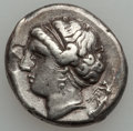 Ancients:Greek, Ancients: CAMPANIA. Neapolis. Ca. 300-275 BC. AR nomos (7.05gm)....