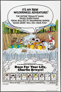 "Race for Your Life, Charlie Brown (Paramount, 1977). One Sheet (27"" X 41""). Animation"