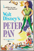 """Movie Posters:Animation, Peter Pan (Buena Vista, R-1976). One Sheet (27"""" X 41""""). Animation....."""