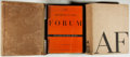 Books:Art & Architecture, The Architectural Forum. Twelve Various Issues from 1934-1936, Held in a Pair of Publisher's Cloth Binders. Time, 19...