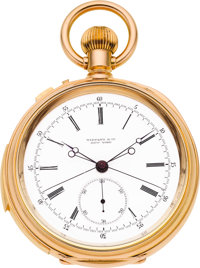Tiffany & Co. Important & Rare Minute Repeater With Split Second Chronograph Presented To G.P. Morisini By Jay G...