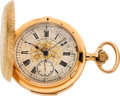 Timepieces:Pocket (pre 1900) , LeCoultre & Co. Ornate Gold Minute Repeater With Fancy Dial, circa 1890's. ...