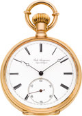 Timepieces:Pocket (pre 1900) , Jules Jurgensen Very Fine Gold Pocket Watch For Edmund Roebling,circa 1890. ...