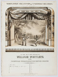 Books:Music & Sheet Music, [Minstrelsy]. William Whitlock. Who's That Knockin' At The Door? C. G. Christman, 1846. 4 disbound pages. Minor wear...