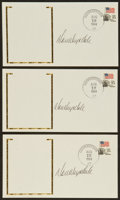 Baseball Collectibles:Others, Don Drysdale Signed Envelopes Lot of 3....