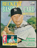 "Baseball Collectibles:Publications, Mickey Mantle Signed ""Beckett"" Magazine...."