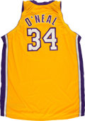"""Basketball Collectibles:Uniforms, Shaquille O'Neal """"Authentic"""" Los Angeles Lakers Jersey...."""