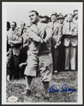 Golf Collectibles:Autographs, Gene Sarazen Signed Photograph....