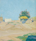 Paintings, WALTER UFER (American, 1876-1936). An Isleta Corral (Isleta Reservation, New Mexico), 1915. Oil on artists' board. 12-1/...