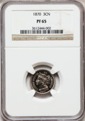 Proof Three Cent Nickels, 1870 3CN PR65 NGC....