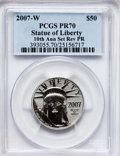 Modern Bullion Coins, 2007-W $50 Half-Ounce Platinum Eagle, Reverse Proof, 10thAnniversary PR70 PCGS. PCGS Population (528). NGC Census: (0). N...