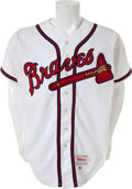 Baseball Collectibles:Uniforms, 1993 Hank Aaron Spring Training Worn Atlanta Braves Jersey....