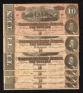 Confederate Notes:1864 Issues, T68 $10 1864 PF-44 Cr. 552 Six Examples.. ... (Total: 6 notes)