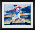 "Autographs:Others, 1998 Joe DiMaggio ""Yankee Clipper"" Signed Print by LeRoy Neiman. ..."
