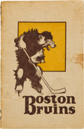 Hockey Collectibles:Publications, 1927-28 Boston Bruins Yearbook....