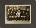Hockey Collectibles:Photos, 1911 Princeton Original Team Cabinet Photograph and Ticket StubFrom Hobey Baker's Last Game....