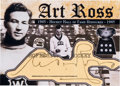 Hockey Collectibles:Others, 1940's Art Ross Signed Cut Signature Card. ...